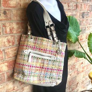 { the sak } Artisan Bag in Colorful Woven Ribbon